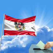 Austria flag election — Stock Photo