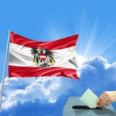 Austria flag election — Stock Photo