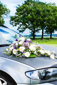 Wedding Car Decorated with Flowers — Stok fotoğraf