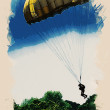Picture with skydiver - Foto de Stock