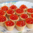 Tartlets with red caviar — Stock Photo #12155774