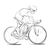 Biker_woman_bw — Vector de stock