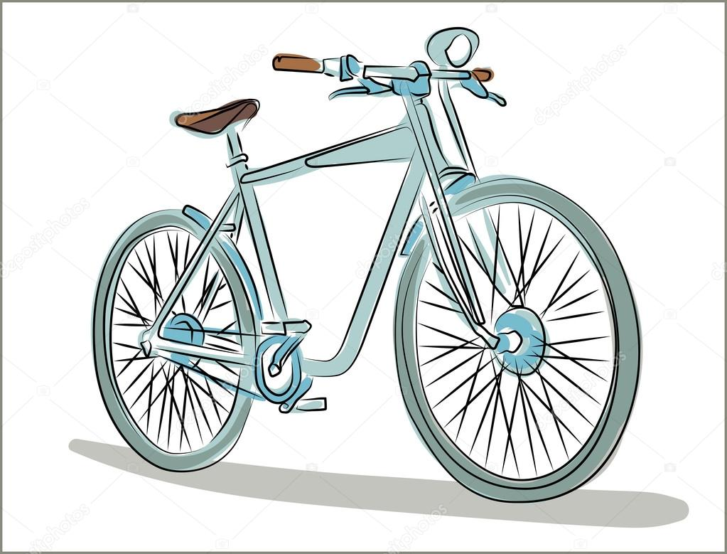 Simple bicycle illustration - photo#2