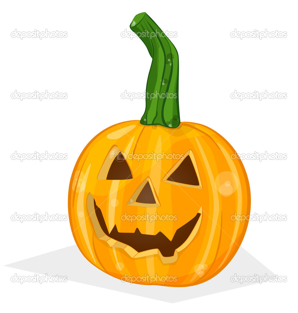 Vector halloween pumpkin vegetable fruit isolated on white background — Stock Vector #12281338