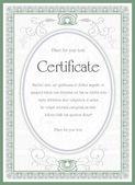 Certificate — Stock Vector