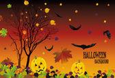 árboles de halloween — Vector de stock