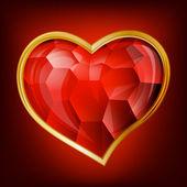 Vector hart — Stockvector