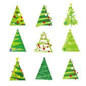 Christmas_Trees — ストックベクタ