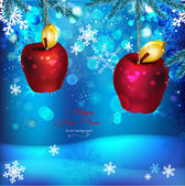 01_Snowflake_Apples — Vettoriale Stock