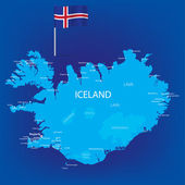 Iceland_Map — Stock Vector