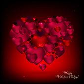 04_red romantic baсkground — Stock Vector
