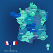 France_Map — Stockvector