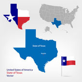 Texas map — Stock Vector