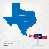 Teksas haritası — Stok Vektör