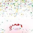 Confetti and streamer — Stock Vector #21071989