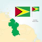 Kaart van guyana — Stockvector