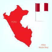 Peru map — Stock Vector