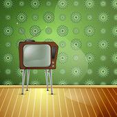 RetroTV wallpaper — Stock Vector