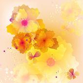 カラフルな花の背景 — ストックベクタ