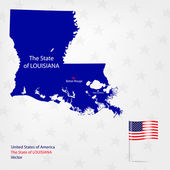 AmericanMap Louisiana — Stock Vector