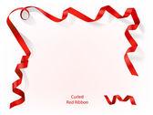 Gewelltes rotes band — Stockvektor