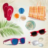Summer kit — Stock Vector