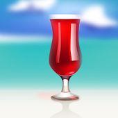 Tropico cocktail — Vettoriale Stock