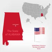 AmericanMap Alabama a — Stock Vector