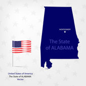 AmericanMap Alabama — Stock Vector