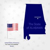 AmericanMap Alabama — Stock Vector