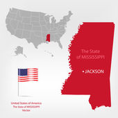 AmericanMap Mississippi state — Stock Vector