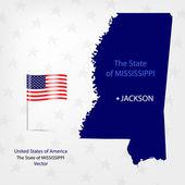 AmericanMap Mississippi — Stock Vector