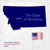 AmericanMap Montana — Stock Vector