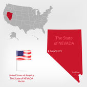 AmericanMap Nevada a — Stock Vector