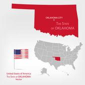 AmericanMap Oklahoma a — Stock Vector