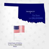 AmericanMap Oklahoma — Stock Vector