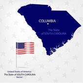 AmericanMap South Carolina a — Stock vektor