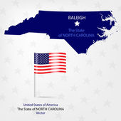AmericanMap North Carolina a — Stock Vector