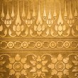 Gold Metal Plate with Thai Traditional Carving — Stock Photo #27240441