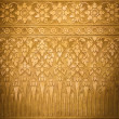 Gold Metal Background with Thai Traditional Textures, Vignette — Stock Photo