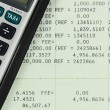 Savings Account Passbook with Calculator — Photo