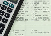 Savings Account Passbook with Calculator — Stock Photo