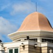 Top of Building showing Dome against Sunshine — Stock Photo #27367101
