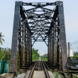Old Railway Bridge Leading to Downtown. — Stock Photo