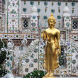 Golden BuddhImage in Fountain, Thailand — Foto de stock #27686587