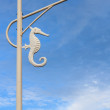 Street Lamp in Sea Horse Style — Stock Photo