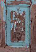 Weathered Old Blue Wooden Frame — Stock Photo