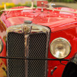 Headlight of a Red Vintage Car, MG D Type, 1928 — Stock Photo
