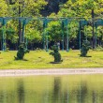 Topiary Elephants in Tropical Park, Bangkok, Thailand. — Stock Photo