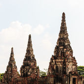 Three Ancient Pagoda in Historical Park Ayuthaya, Thailand, — Stock Photo
